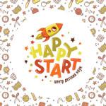 Этапы разработки логотипа для центра детских наук «Happy Start»