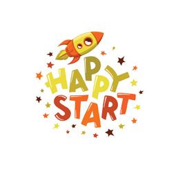Разработка логотипа для центра детских наук «Happy Start», г. Ташкент
